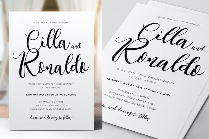 Thumbnail for Simple Wedding & Birthday Invitation