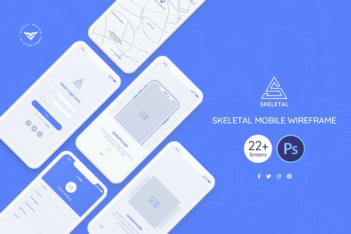 Thumbnail for Skeletal Mobile Wireframe Kit