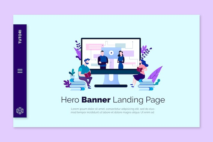 Thumbnail for Tutori - Hero Banner Template