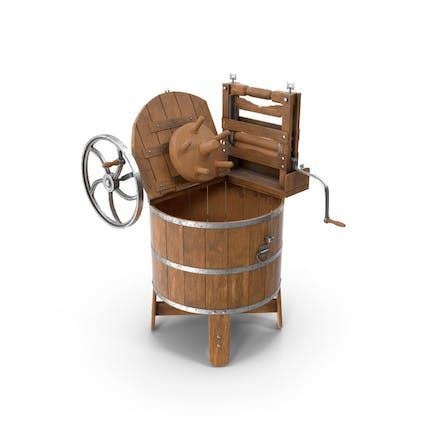 Eröffnete Oldtimer Waschmaschine
