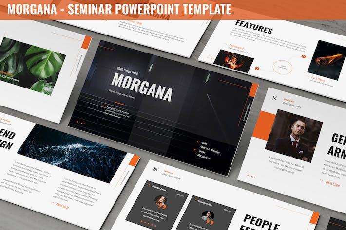 Thumbnail for Morgana - Seminar Powerpoint Template