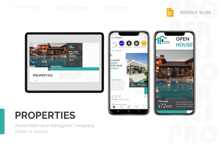 Properties - Google Slides & Instagram Template
