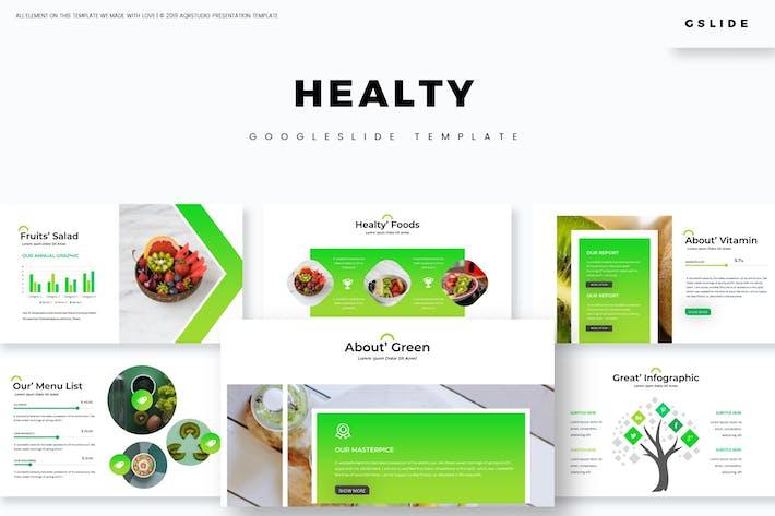 Thumbnail for Healty Fruits - Google Slides Template