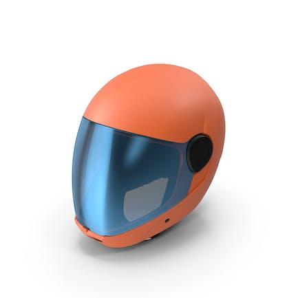 Orange Skydiving Helmet