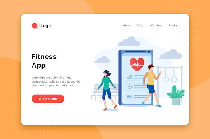 Thumbnail for Fitness App flat illustration concept