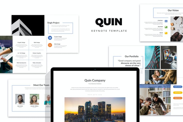 Thumbnail for Quin : Clean & Minimal Company Profile Keynote