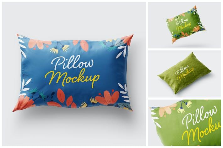 Thumbnail for Rectangular Pillow Cover Mockup Set | Textile