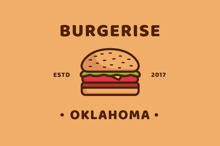 Cover Image For Burger - Logo Template