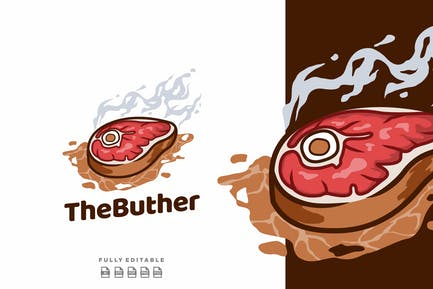 Beef Butcher Steak Logo