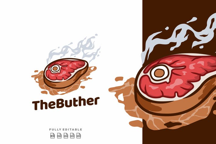 Beef Butcher Steak Logo
