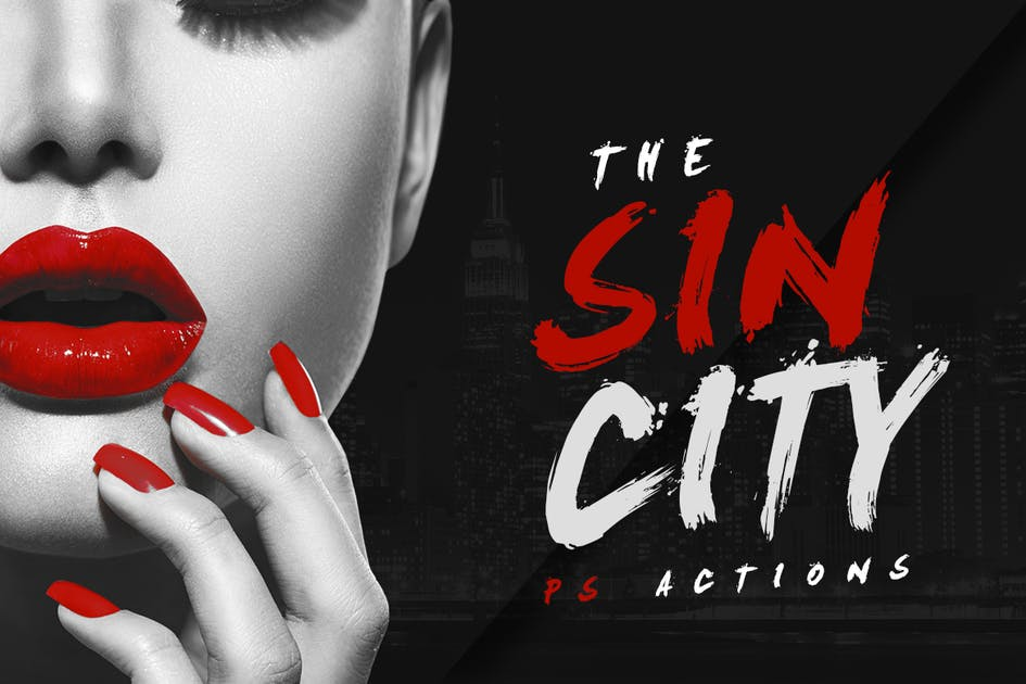 Download Sin City Photoshop Actions by micromove