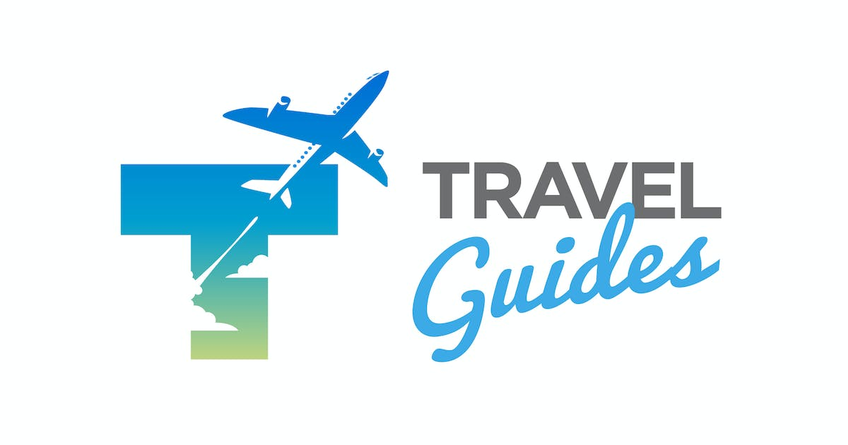 Download Modern Letter T and Plane Travel Guides Logo by Suhandi
