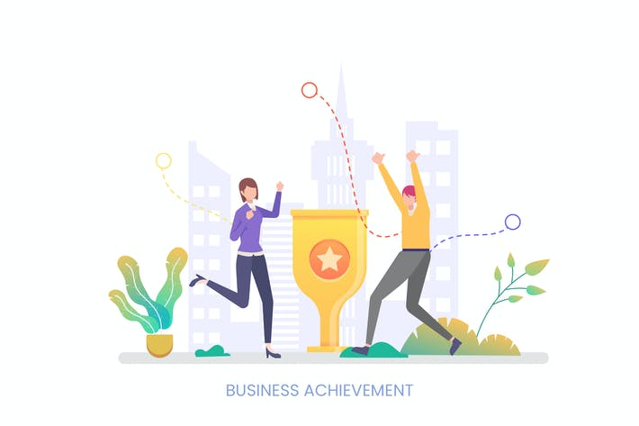 Thumbnail for Business Achievement Vector Illustration Concept