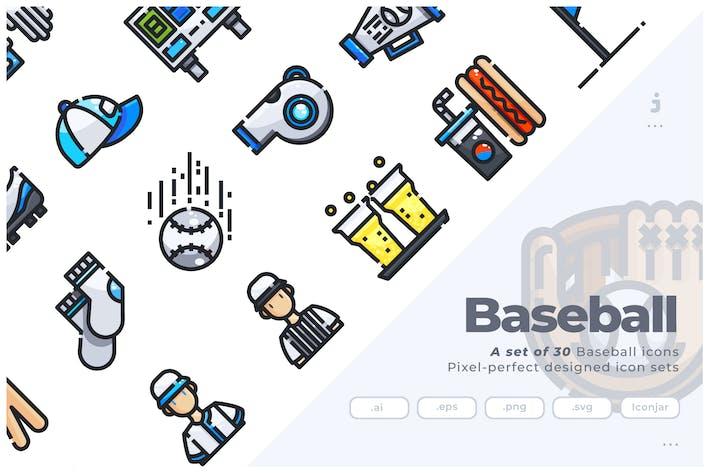 Thumbnail for 30 Baseball Icons