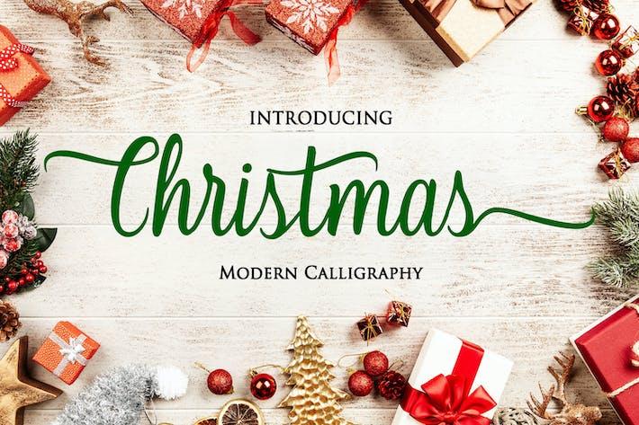 Thumbnail for Christmas - Modern Calligraphy Font