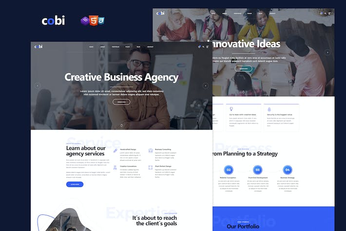 Thumbnail for Cobi - Creative Portfolio HTML5 Template