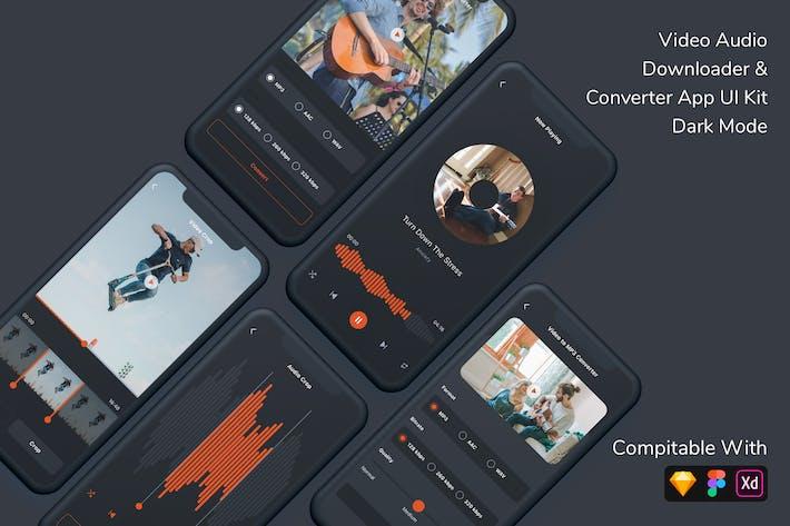 Thumbnail for Video Audio Downloader & Converter App UI Kit Dark