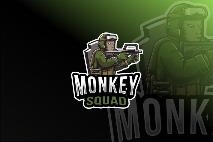 Thumbnail for Monkey Squad Esport Logo Template