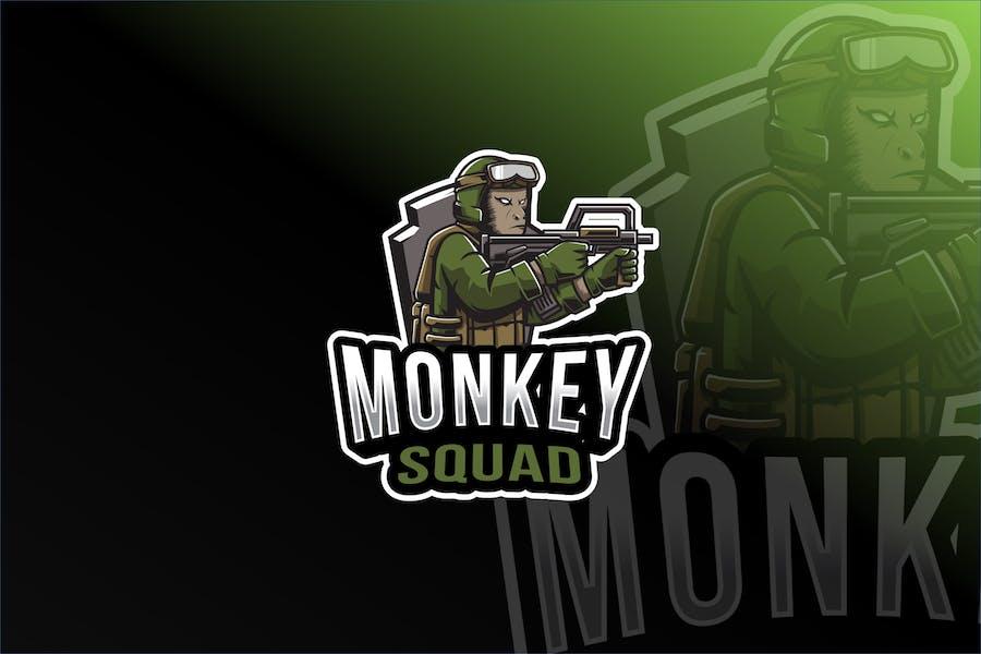 Monkey Squad Esport Logo Template