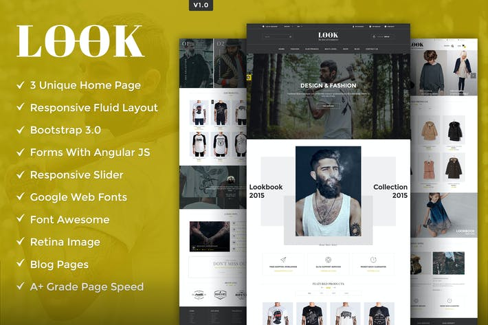 Thumbnail for Look HTML5 Template