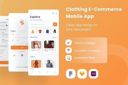 Appli mobile e-commerce de vêtements