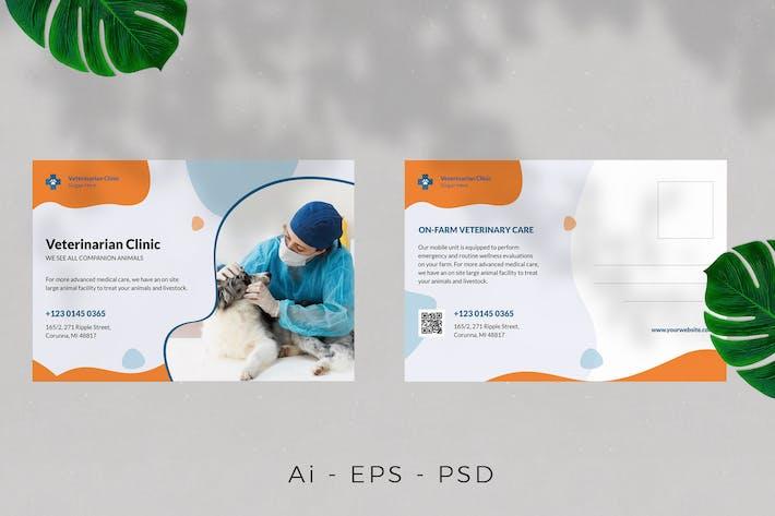 Thumbnail for Pet Care Postcard Design