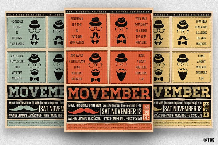 Thumbnail for Movember Flyer Template V1