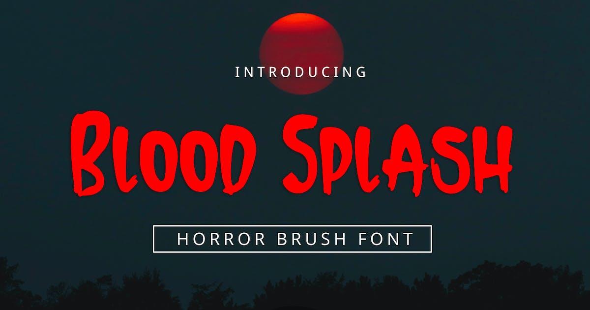 Download Blood Splash Font by yandidesigns