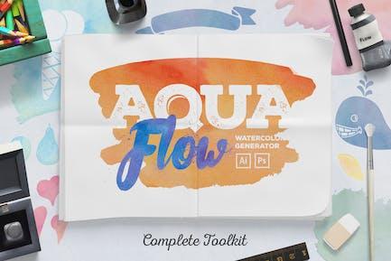 Акварельный генератор AquaFlow