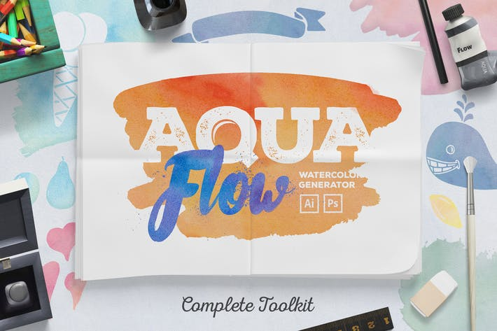 Thumbnail for AquaFlow Watercolor Generator