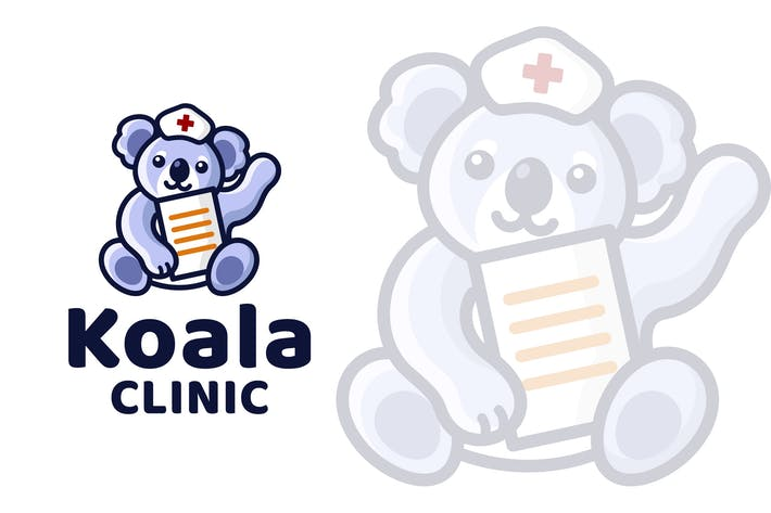 Thumbnail for Koala Clinic Cute Kinder Logovorlage