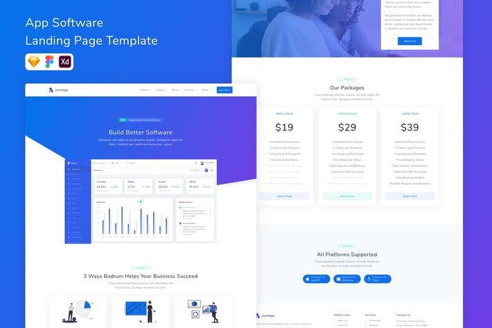Thumbnail for App Software Landing Page Template