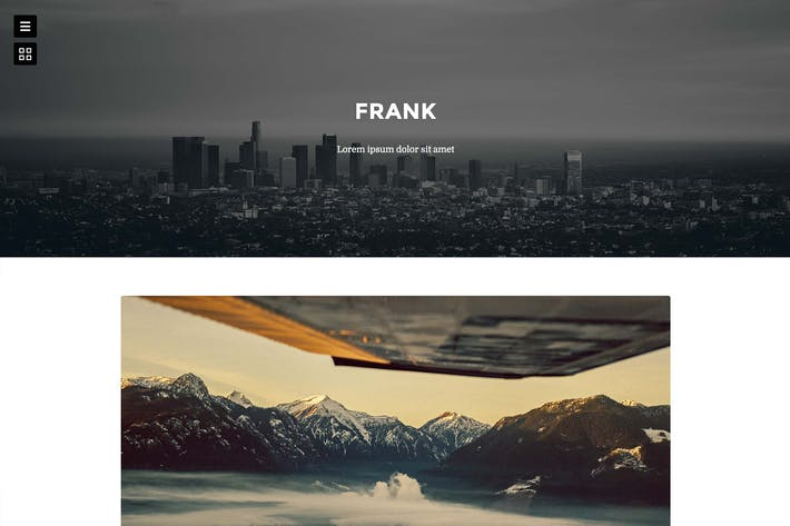 Cover Image For Frank - Minimal One Column theme