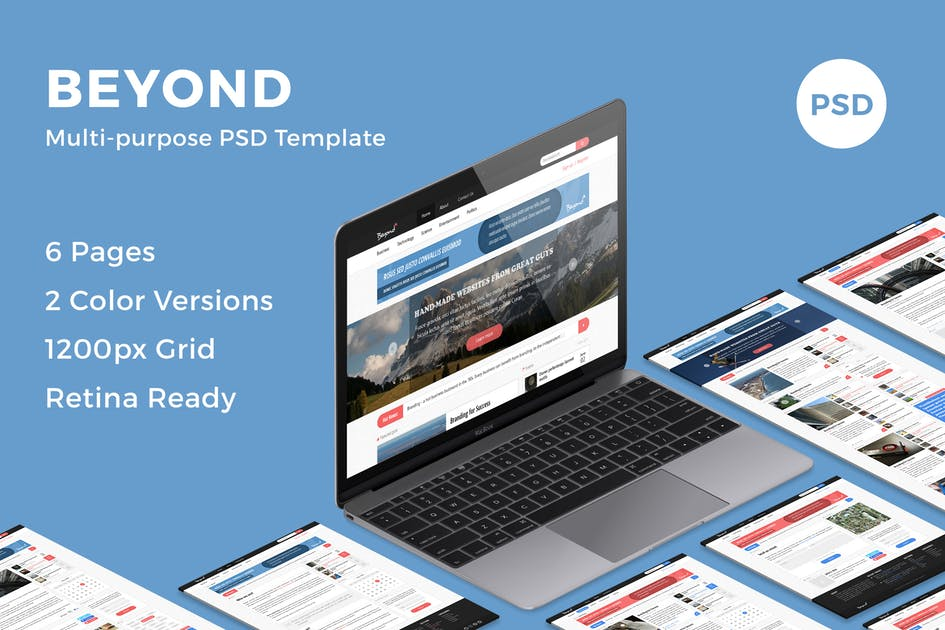 Download Beyond - Multi-purpose PSD Template by bestwebsoft