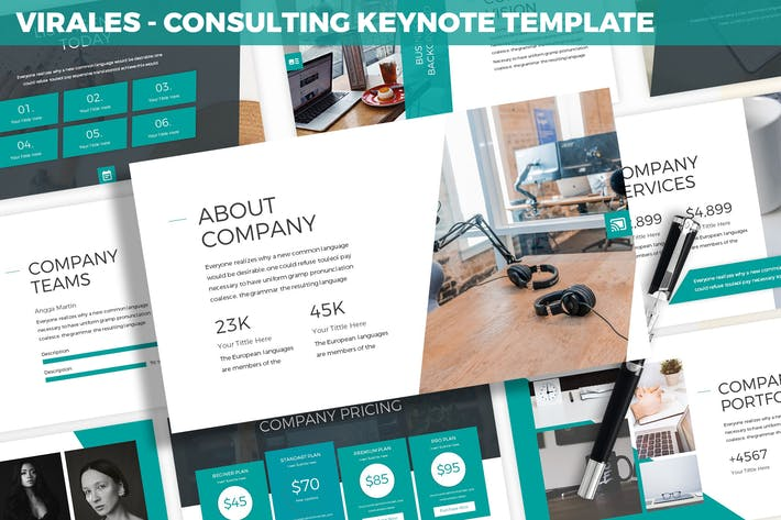 Thumbnail for Virales - Consulting Keynote Template
