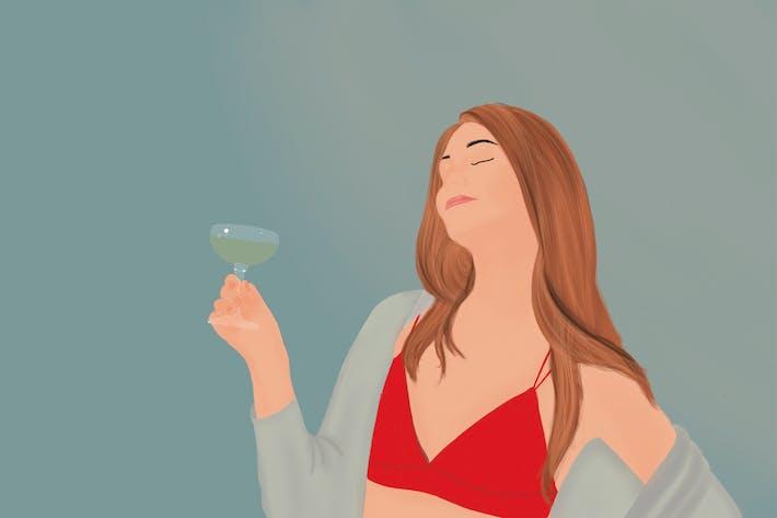 Illustration - Party Girl