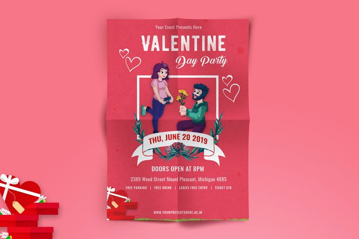 Thumbnail for Valentines Day Party Flyer-04