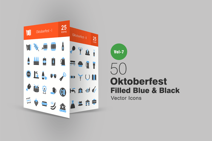 Thumbnail for 50 Oktoberfest Blue & Black Icons