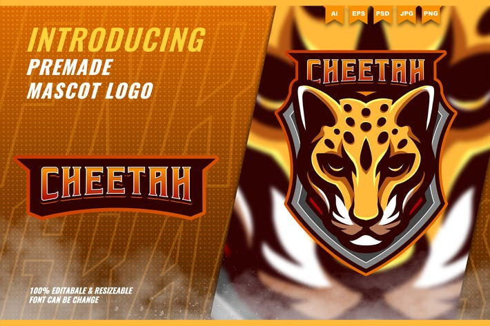 Cheetah - Mascot Esport Logo Template