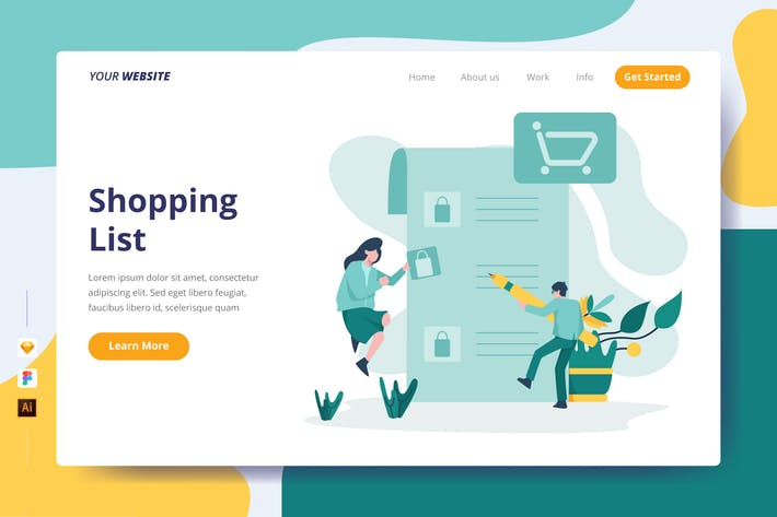 Thumbnail for Shopping List - Landing Page