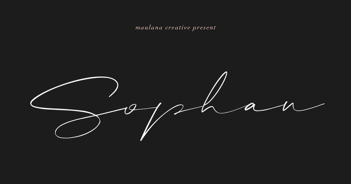 Download Sophan Calligraphy Font by maulanacreative
