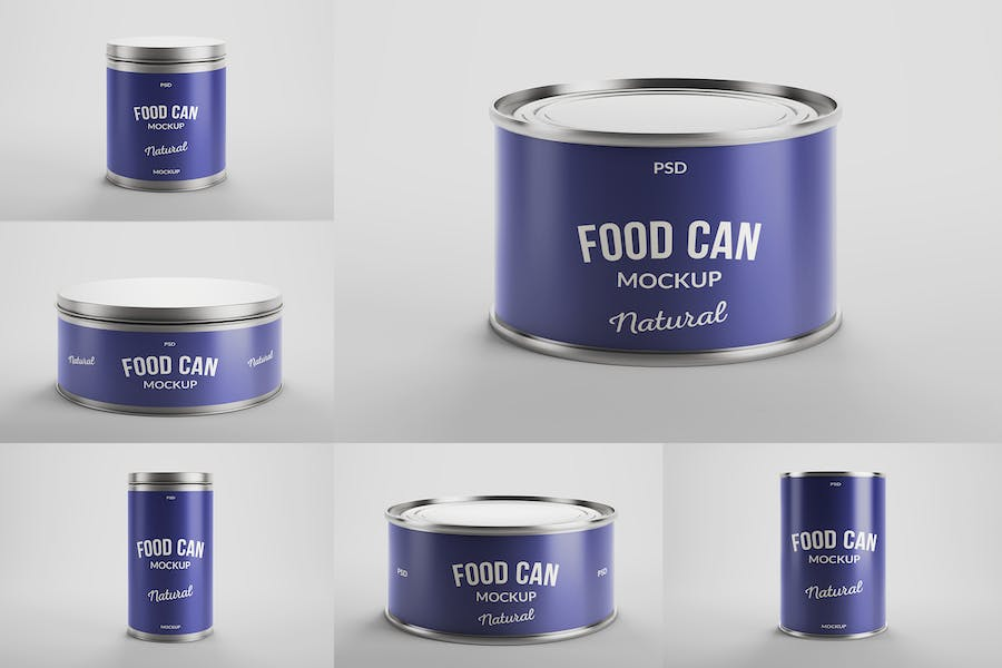 Food Tin Can Mockups