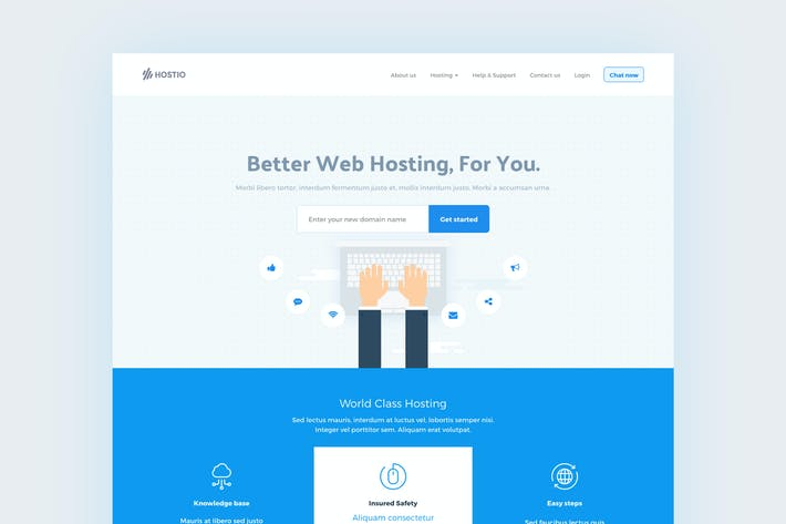 Thumbnail for Hostio HTML & WHMCS Web Hosting Template