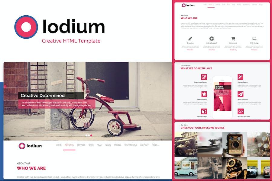 Iodium- Onepage Personal/Portofolio HTML Template