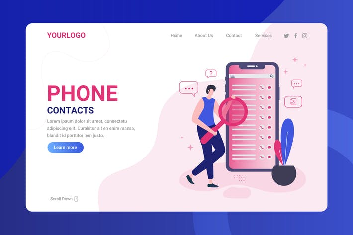 Thumbnail for Phone Contacts - Landing Page