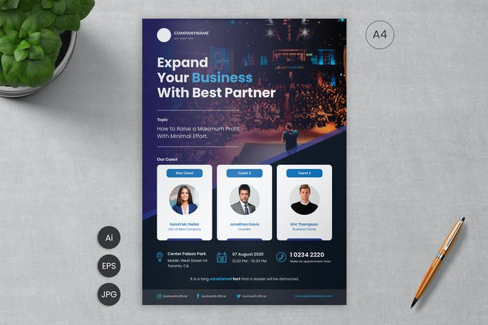 Thumbnail for Business Flyer Template 07 - Slidewerk