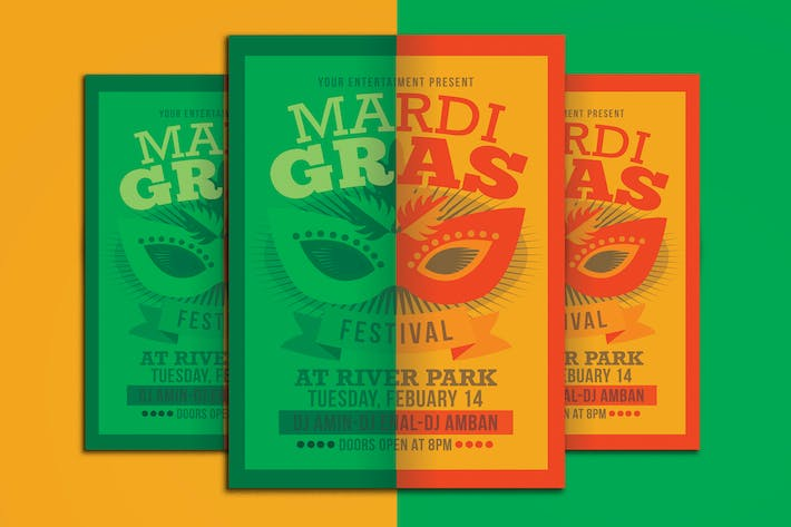 Thumbnail for Mardi Gras Event Flyer