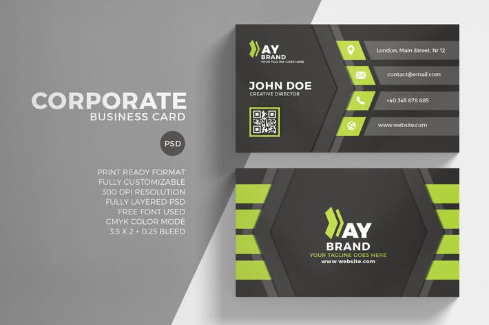 Thumbnail for Green Corporate Business Card