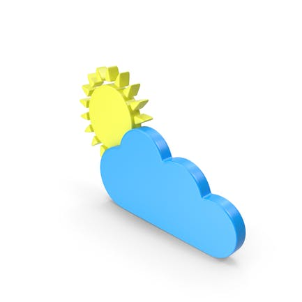Partly Cloudy Meteorology Symbol