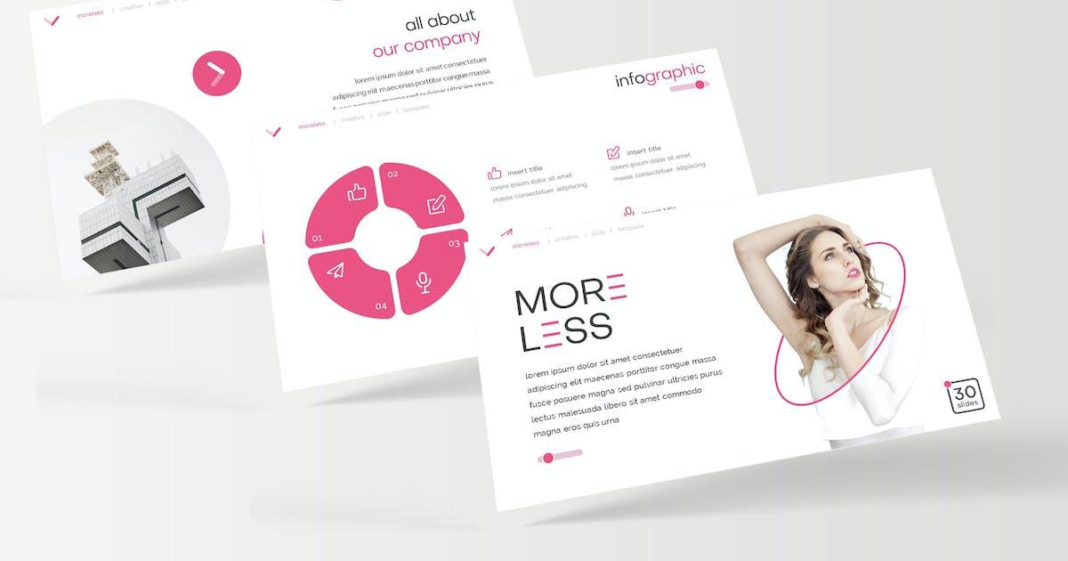 Download Moreless - Google Slide Template by IanMikraz